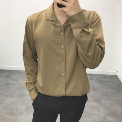 남성 10컬러 가을 부들 베이직 오픈카라 셔츠