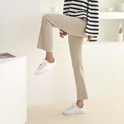 여성 3컬러 쫀쫀 스판 밑단컷팅 라인 부츠컷 팬츠