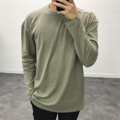 남성 레이어드 가을 슬라브 10컬러 베이직 긴팔 티셔츠