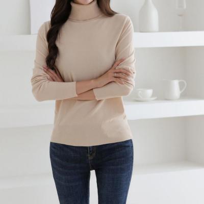 여성 가을 겨울 5컬러 목폴라 터틀넥 니트티셔츠