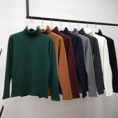 남성 댄디 심플 골지 이너 기본 폴라 티셔츠