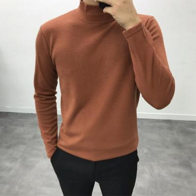 남성 이중지 심플 반목 가성비 반목 폴라 티셔츠