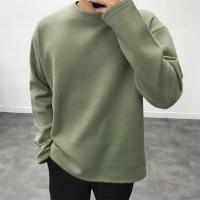 남성 미니멀 기모 박스 가을 겨울 긴팔 티셔츠