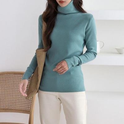 여성 여자 베이직 6컬러 터틀넥 목폴라 니트티셔츠