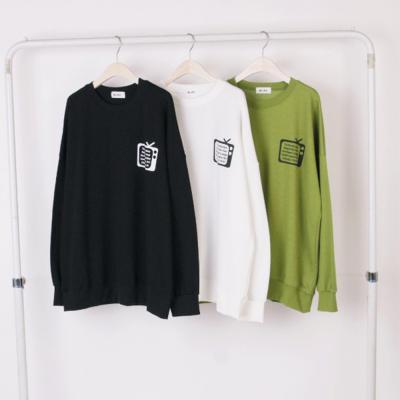 남자 여자 백투더 TV 긴팔 맨투맨 특양면 티셔츠