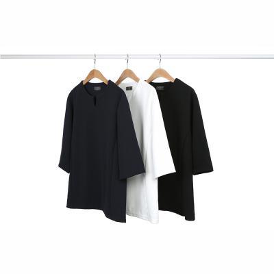 [1+1] 남성 댄디 슬림라인 V넥 폴리 7부 티셔츠