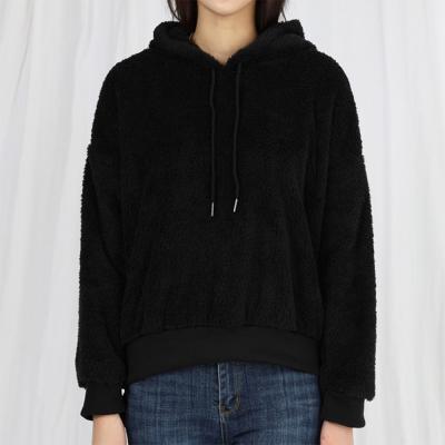 여자 캐주얼 양털 후리스 후드 티셔츠