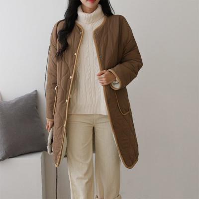 여성 리버시블 양면 누빔 버튼 뽀글이 양털 롱자켓