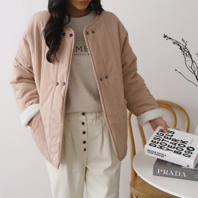 여성 리버시블 양면 바이오 언발 뽀글이 양털 자켓