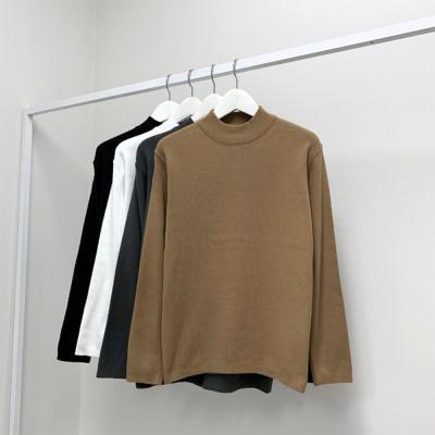 남성 캐주얼 캐시미어 심플봉제 반목폴라 티셔츠