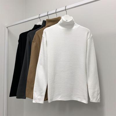 남성 캐주얼 캐시미어 심플 목폴라 티셔츠
