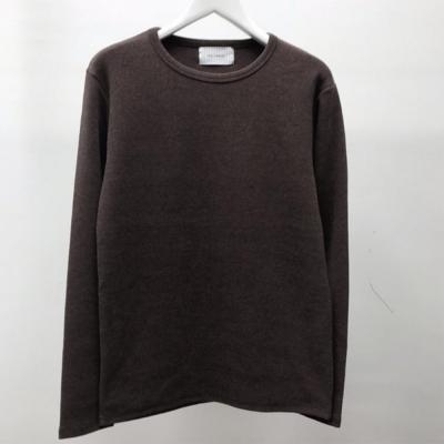 남성 캐주얼 피치 라운드 사계절 기본 긴팔 티셔츠