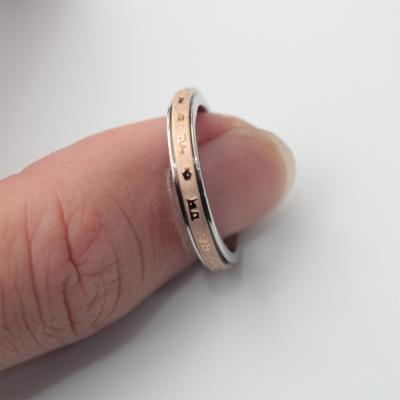[손가락] 남성 캐주얼 회전 문양 골드 실버 얇은 링 반지