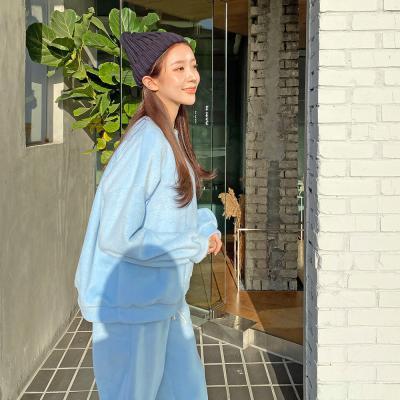 여자 가을 겨울 양털 기모안감 후리스 맨투맨 티셔츠