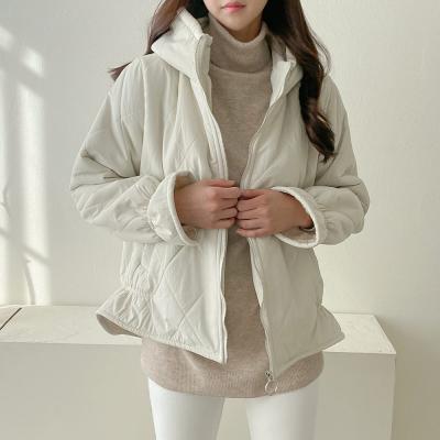 여자 겨울 하이넥 카라넥 목폴라 누빔 누비 숏 자켓