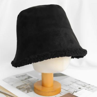 남자 여자 겨울 방한 무스탕 세무 뽀글 버킷햇 모자
