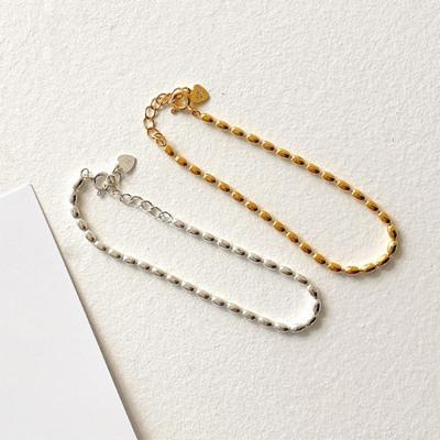 여자 볼드 금 은 중간두께 포인트 심플 팔찌
