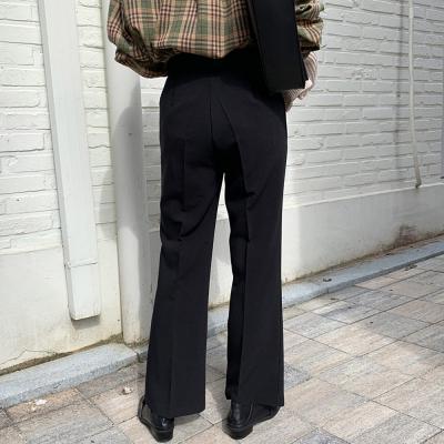 여자 핀턱 밴딩 부츠컷 와이드 슬랙스