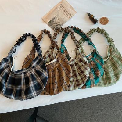 [1+1] 여자 체크 셔링 곱창 밴딩 숄더백 가방