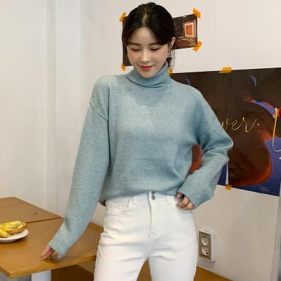 여자 겨울 캐시미어 터틀넥 스웨터 폴라 니트 티셔츠