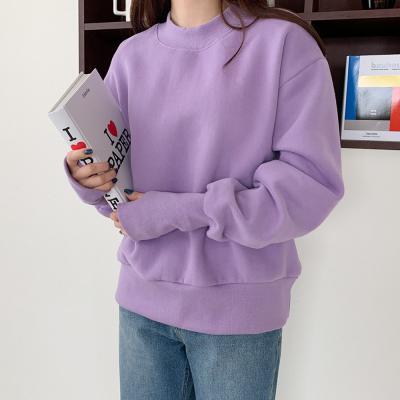 여자 겨울 기모 핸드워머 스웨트 무지 맨투맨 티셔츠