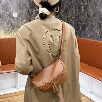 여자 힙색 용량 넓은 크로스백 솔리드 캐주얼 가방