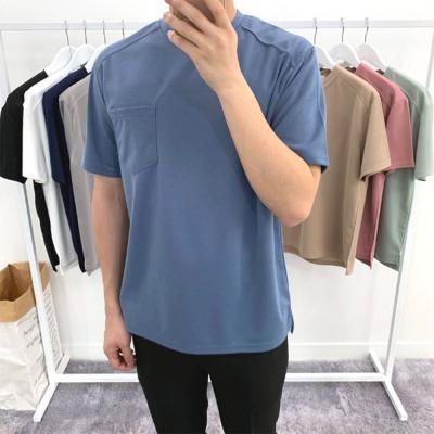 남자 앞 포켓 포인트 여름 분또 찰랑 반팔 티셔츠