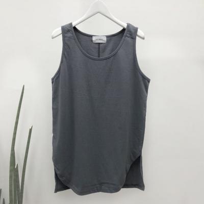 [1+1] 남자 봄 여름 레이어드 오버핏 나시 티셔츠