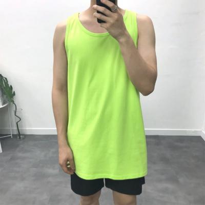 남자 오버핏 비비드 형광 나시 티셔츠