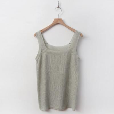 [1+1] 여자 봄 여름 부클 니트 민소매 나시 티셔츠