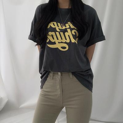 여자 데일리 프린팅 츄파춥스 반팔 티셔츠