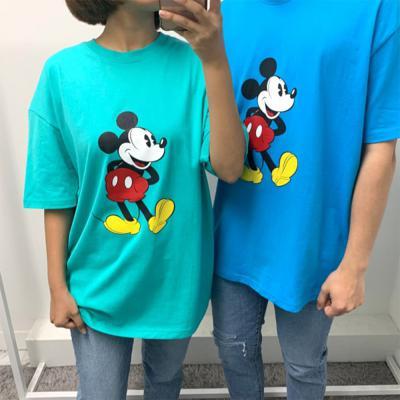 남자 여자 미키마우스 정품 8컬러 반팔 오버핏 티셔츠