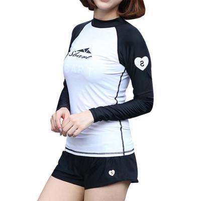 여자 반목 나그랑 레쉬가드 비치웨어 반바지 긴팔 티셔츠