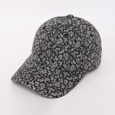 남자 여자 캐주얼 여름 페이즐리 패턴 볼캡 모자