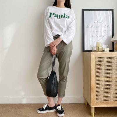 [1+1] 여자 깔끔한 기본 프린팅 U넥 이너 티셔츠