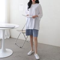 여자 봄 여름 박시 보이프렌드핏 루즈핏 긴팔 티셔츠