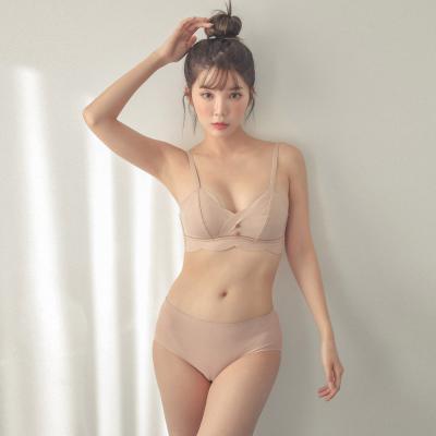 여자 노와이어 3단후크 물결 브래지어 팬티 속옷