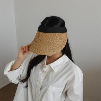 여자 봄 여름 데일리 지사 물결무늬 썬캡 모자