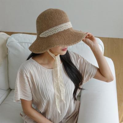 여자 봄 여름 데일리 휴양지 지사 레이스 보넷 모자