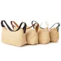 여자 호보 미니 라탄 밀짚 여름 출근룩 핸드백 숄더백