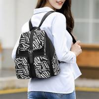 여자 캐주얼 멀티 포켓 천가방 화려한 패턴 백팩