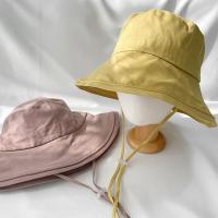 여자 낚시 스트릿 캐주얼 스트랩 버킷햇 모자