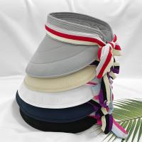 여자 골드 테니스 등산 낚시 컬러 리본 썬캡 모자