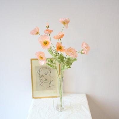 생화같은 고급 양귀비 인테리어 조화꽃장식(4color)