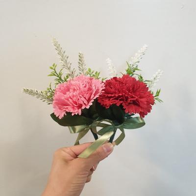 어버이날 스승의날 미니 카네이션꽃 조화 코사지(레드/핑크)