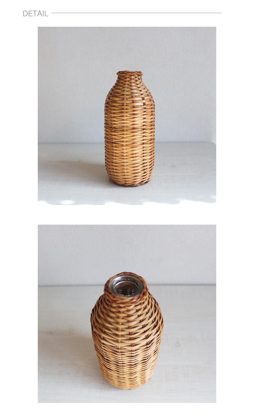 고급 라탄 둥근화병 - 베아르시, 27,900원, 화병/수반, 유리화병