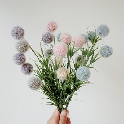 퐁퐁 꽃 조화장식(4color)