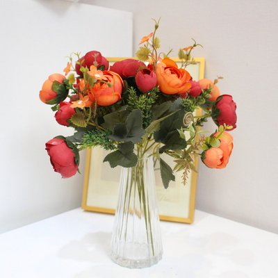 킹 라넌큘러스 부케 조화꽃장식(4color)