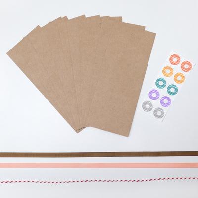 크라프트 빈티지 책갈피 만들기 종이10매 끈 포함 북마크 대량구매가능 제작