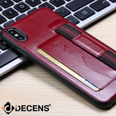 데켄스 아이폰XR 케이스 핸드 스트랩 가죽 포켓 케이스 M628